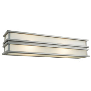 Gatsby Brushed Stainless Steel Three-Light Wall Sconce
