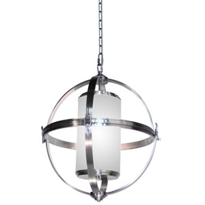 Pharmacy Brushed Nickel 25-Inch Four-Light Pendant