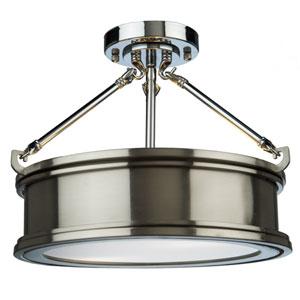 Eastwick Brushed Chrome Two-Light Semi Flush