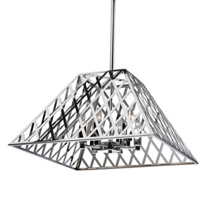 Jardin Chrome Six-Light Chandelier