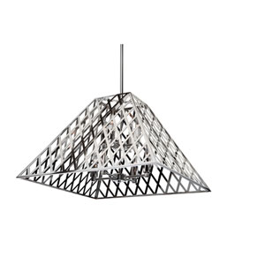 Jardin Chrome Eight-Light Chandelier