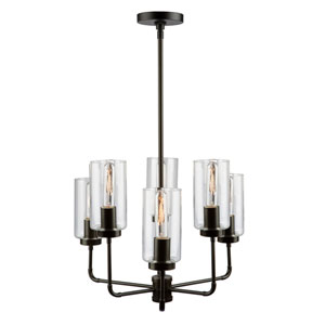 Ray Oil Rubbed Bronze 21-Inch Six-Light Chandelier