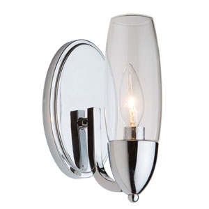 Trilogy Chrome 5-Inch One-Light Wall Sconce