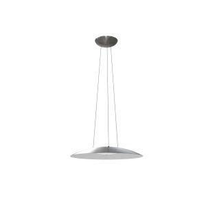 Aero Satin Nickel Integrated LED Pendant with White Interior