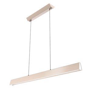 Flair Satin Nickel 48-Inch LED Linear Pendant