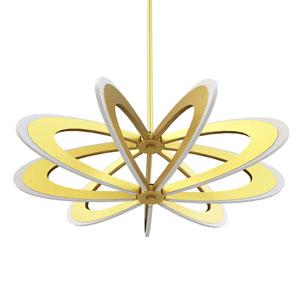 Iridium Etched Gold LED Pendant