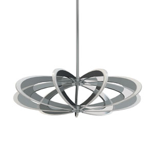 Iridium Polished Chrome LED Pendant