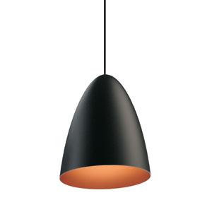 Bullet Matte Black LED Mini Pendant