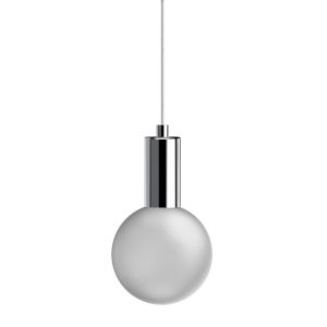 Polished Chrome Integrated LED Frosted Glass Mini Pendant