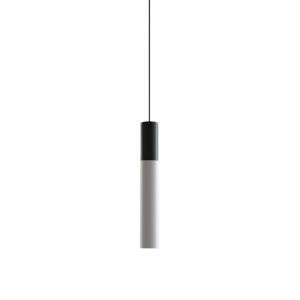 Novo Matte Black Integrated LED Mini Pendant with Frosted Diffuser Glass