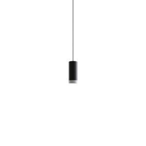 Novo Matte Black Integrated LED Mini Pendant with Luminous Ring