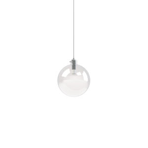 Polished Chrome Integrated LED Mini Pendant with Clear Glass