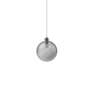 Polished Chrome Integrated LED Mini Pendant with Smoked Glass