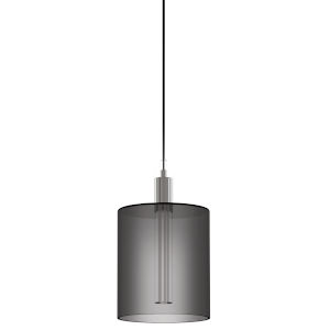 Velo Polished Chrome Integrated LED Mini Pendant with Filament Glass