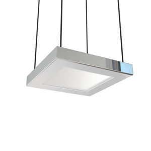 Quadra Polished Chrome Six-Inch LED Mini Pendant
