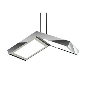Quadra Polished Chrome Five-Inch LED Pendant
