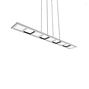 Quadra Polished Chrome 47-Inch LED Adjustable Linear Pendant