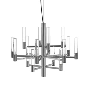 Seraph Polished Chrome 22-Inch LED 16-Light Pendant with Clear Glass
