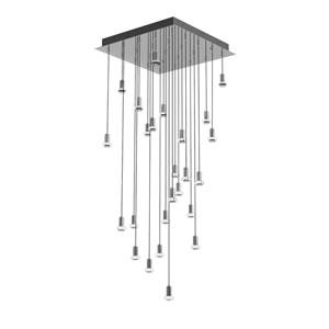 Seraph Polished Chrome 24-Inch LED 25-Light Pendant with Mushroom Glass