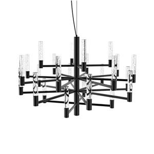 Seraph Matte Black 31-Inch LED 24-Light Pendant with Bubble Glass