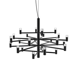 Seraph Matte Black 31-Inch LED 24-Light Pendant with Short Glass