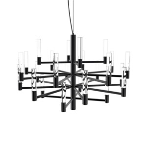 Seraph Matte Black 31-Inch LED 24-Light Pendant with Clear Glass