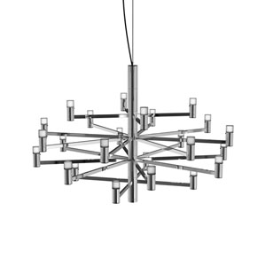 Seraph Polished Chrome 31-Inch LED 24-Light Pendant with Short Glass
