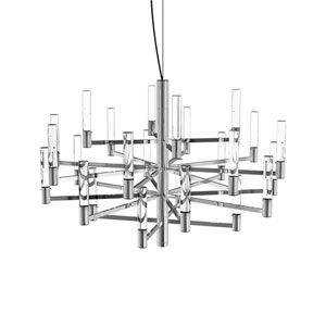 Seraph Polished Chrome 31-Inch LED 24-Light Pendant with Clear Glass