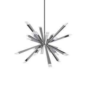 Starburst Polished Chrome 29-Inch LED 24-Light Pendant