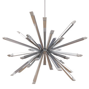 Starburst Polished Chrome 39-Inch LED 24-Light Pendant