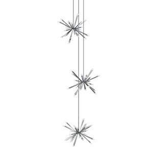 Starburst Polished Chrome LED 72-Light Pendant