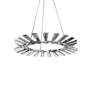 Wedge Polished Chrome 36-Inch LED 24-Light Pendant