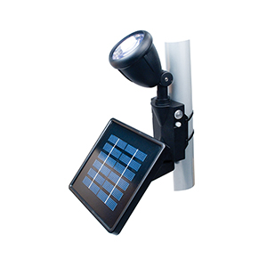 Black Solar LED Flag Light