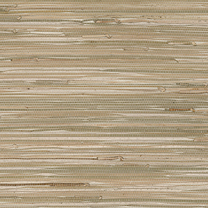 Fine Seagrass Green and Beige Wallpaper