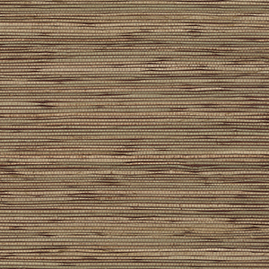 Fine Seagrass Red, Green and Brown Wallpaper
