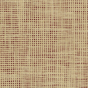 Red and Ochre Paper Weave Grasscloth Wallpaper