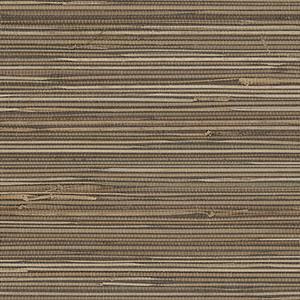 Regular Buddle Brown, Cream and Black Grasscloth Wallpaper