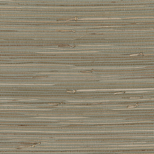 Regular Buddle Green, Brown and Beige Grasscloth Wallpaper