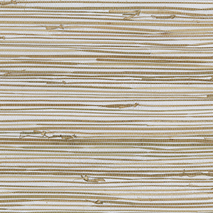 Regular Buddle White, Brown and Tan Grasscloth Wallpaper