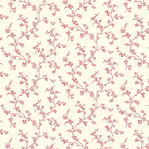Allison Trail Red and Cream Wallpaper