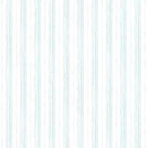 Caroline Blue Stripe Wallpaper