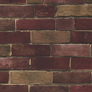Photo Brick Red and Brown Wallpaper