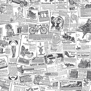 Black and White Newspaper Wallpaper
