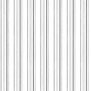 Black, Light Grey and White Stripe Wallpaper