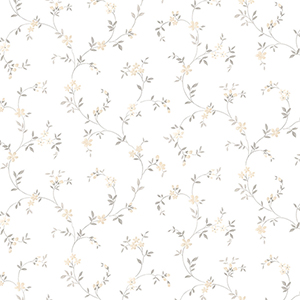 Seed Trail Beige and Grey Floral Wallpaper
