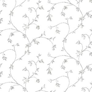 Fruit Trail Light Grey Wallpaper