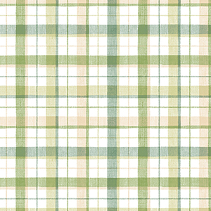 Green and Beige Linen Plaid Wallpaper