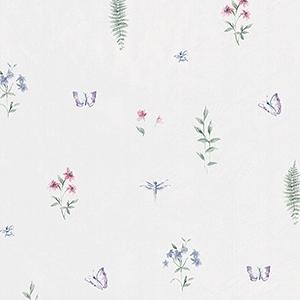 Summer Botanical Sidewall Pink, Purple and Blue Wallpaper