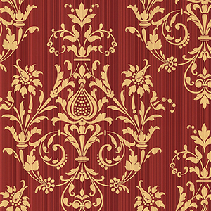 Constantine Red and Metallic Gold Wallpaper
