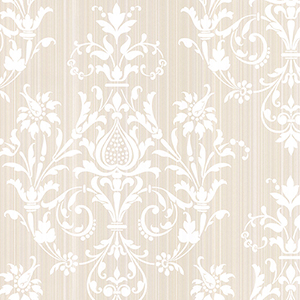 Constantine Beige and Pearl Wallpaper